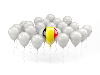 Air balloons with flag of belgium