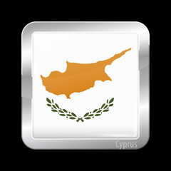 Flag of Cyprus. Metal Icons