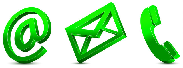 Contact Us – Green Icons 3D