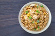 Healthy food fried rice chicken with egg and green onion - 80510588