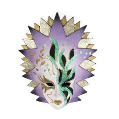 Venetian carnival mask isolated on white