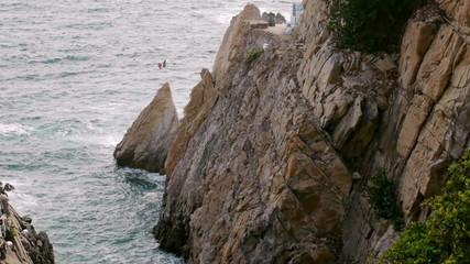 La Quebrada Acapulco Mexico Rocks