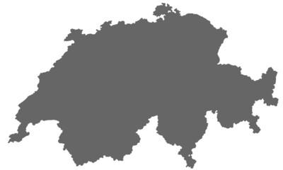 Schweiz in grau