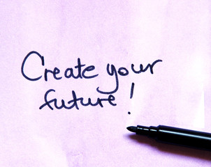 inspirational message  create your future