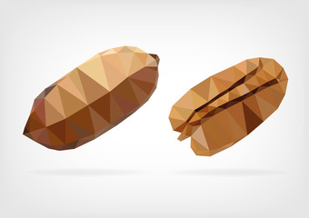 Low Poly Brazil nut