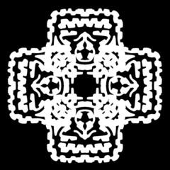 ornament, stencil round pattern, cut out design, decor element