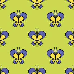 Seamless butterfly pattern. Vector illustration