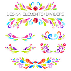 Colored dividers set.