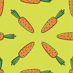 Seamless background with carrots