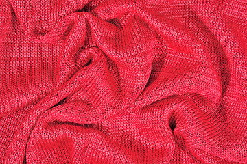 Pink crumpled stockinet background