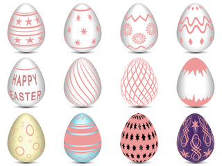 12 Pink Easter Eggs