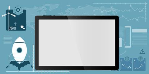 Tablet background illustration