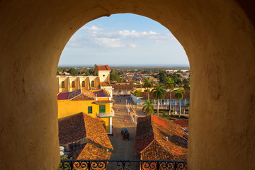 View of Trinidad, Cuba from up