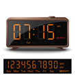 Retro style digital alarm clock with orange numbers - 80515153