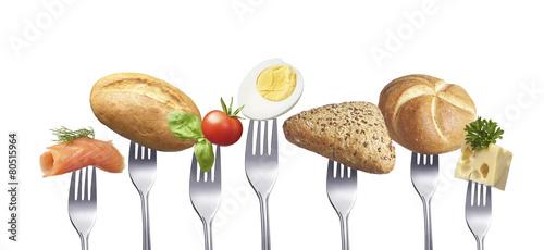 Plexiglas Boord Leckeres gesundes Frühstück