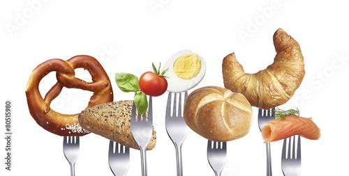 Leinwanddruck Bild Frühstücksauswahl