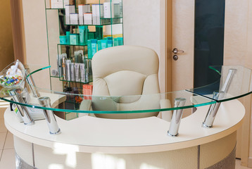 Reception of a Beauty SPA Salon - administrator zone