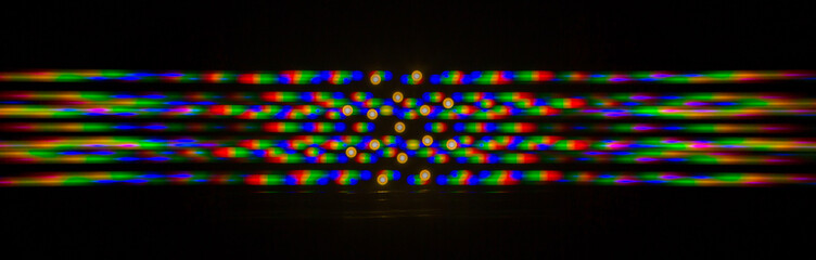 Diffraction of light from the LED array on the grating