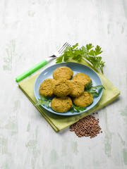 lentils croquette, vegetarian food