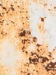 old rusty painted metal