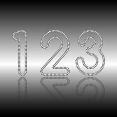 Sequin font numbers