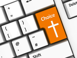 Computer keyboard orange choice
