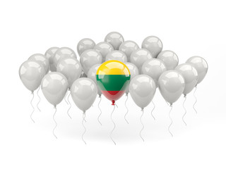 Air balloons with flag of lithuania