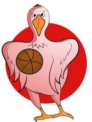 Goose Basketball Mascot