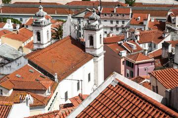 Lisbona, vista su Alfama