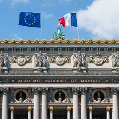 The Paris Opera or Garnier Palace facade.