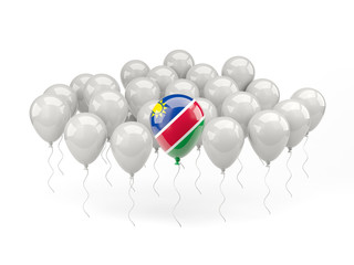 Air balloons with flag of namibia
