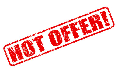 Hot offer red stamp text