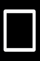 White Tablet PC at black background