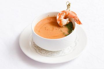 cream soup with shrimp