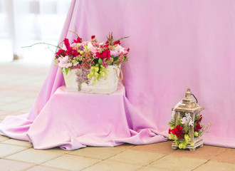 Beautiful flowers bouquets decor
