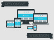 Responsive webdesign technology page design template concept - 80521978