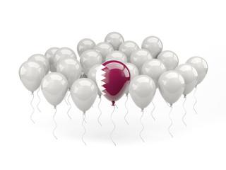 Air balloons with flag of qatar