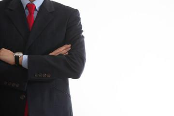 腕組みするビジネスマン