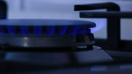 Natural gas inflammation in stove burner, methane in the kitchen