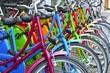 Leinwandbild Motiv Fahrräder