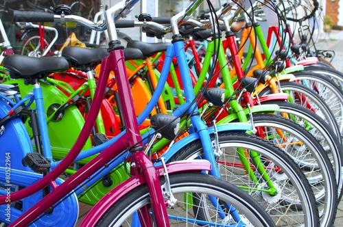 Leinwanddruck Bild Fahrräder