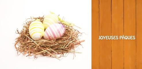 Composite image of joyeuses paques