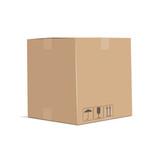 Cardboard box. Eps10 vector illustration. Isolated on white