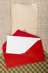 Letter in a red envelope