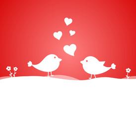 Vögel Liebe Herzen