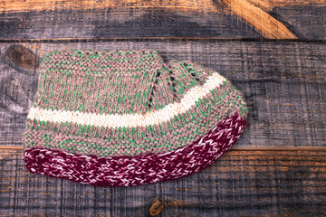 Traditional knitted slipper