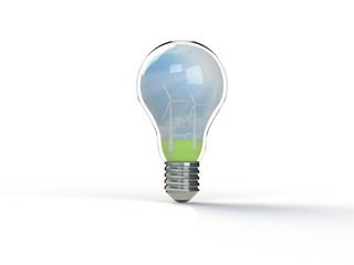 Idea light bulb 3d render