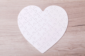 White puzzle heart