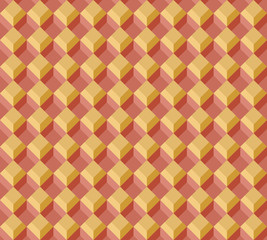 Orange and brown rectangle seamless pattern