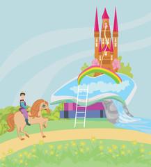 Open book - Prince riding a horse